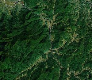 Mount Dragon and Tiger - Google Satellite Photo