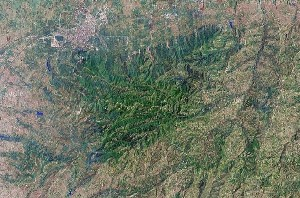 Terracotta Army & Mount Li - Google Satellite Photo
