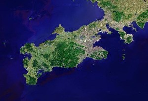 Dalian & Lvshunkou - Google Satellite Photo