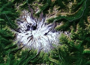 Mount Rainier National Park - Google Satellite Photo