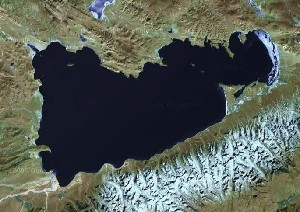 Namtso & Nyainqêntanglha Mountains - Google Satellite Photo