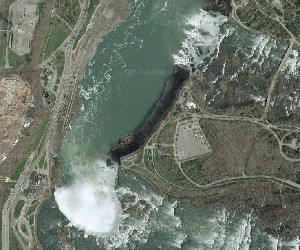 Niagara Falls - Google Satellite Photo