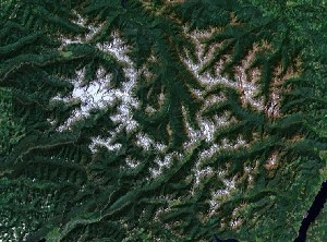 Olympic National Park - Google Satellite Photo