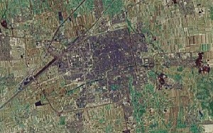 Ancient City of Pingyao - Google Satellite Photo
