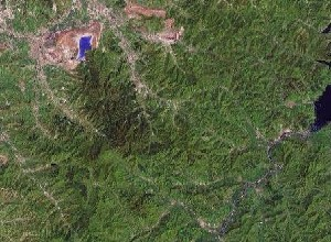 Qian Shan - Google Satellite Photo