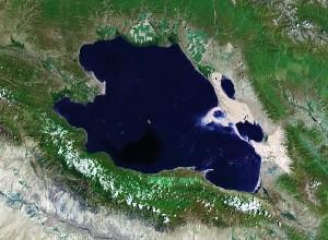 青海湖 - Google卫星照片
