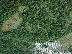 Mount Qiyun - Google Satellite Photo