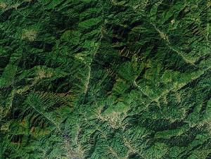 Mount Sanqing - Google Satellite Photo