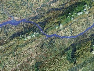 Three Gorges - Google Satellite Photo
