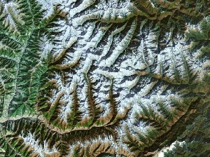 Mount Siguniang - Google Satellite Photo