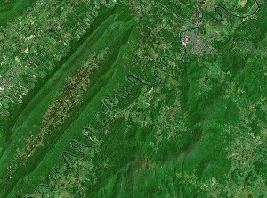 Shenandoah National Park - Google Satellite Photo