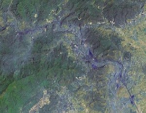 Cave of Stone Flower - Google Satellite Photo