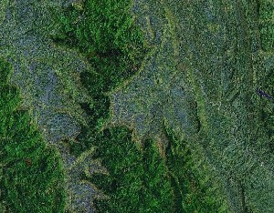Simian Mountains - Google Satellite Photo