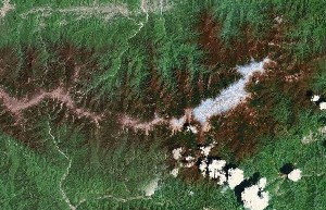 Mount Taibai - Google Satellite Photo