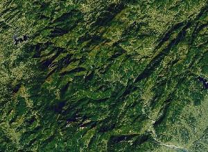 Mount Tianzhu - Google Satellite Photo