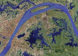 East Lake of Wuhan - Google Satellite Photo