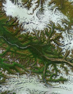 Wrangell - St. Elias - Google Satellite Photo