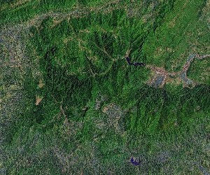 Wulingyuan (Zhangjiajie) - Google Satellite Photo