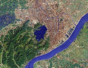 West Lake of Hangzhou - Google Satellite Photo