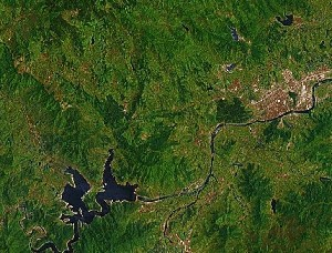 Mount Xuedou - Google Satellite Photo