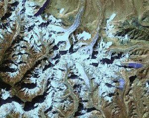 Shishapangma - Google Satellite Photo