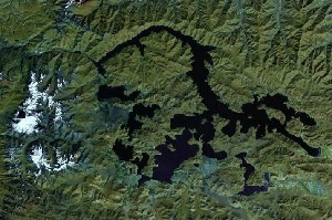 Yamdrok Lake - Google Satellite Photo