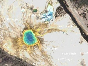 Yellowstone National Park - Google Satellite Photo