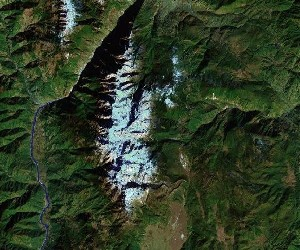 Jade Dragon Snow Mountain - Google Satellite Photo