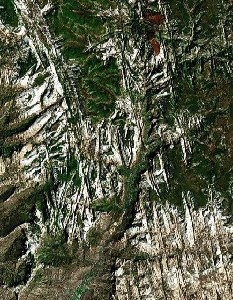 Zion National Park - Google Satellite Photo