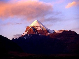 Kailasa and Lake Manasarovar